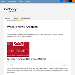 Design Magazine | Archive | Weekly News