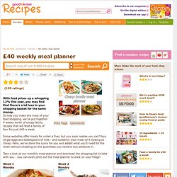 Credit crunch meal planner | Cheap family meals | Cheap recipes