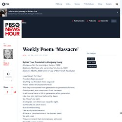 Weekly Poem: 'Massacre'