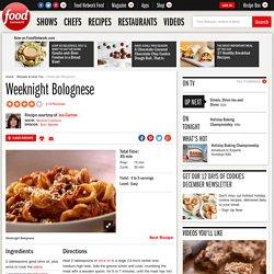 Weeknight Bolognese Recipe : Ina Garten