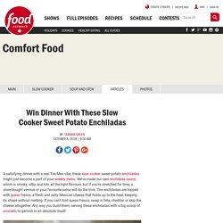 Win Weeknight Dinner with Slow Cooker Sweet Potato Enchiladas