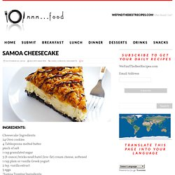 SAMOA CHEESECAKE - WeFindTheBestRecipes.com