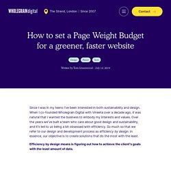 How to set a Page Weight Budget for a greener, faster website