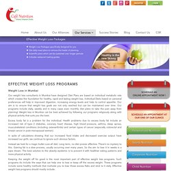 Weight Loss in Mumbai, Weight Loss Centres in Mumbai, Weight Loss Consultants
