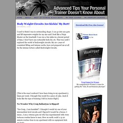Body Weight Circuits Are Kickin' My Butt! - Fitness Black Book