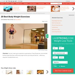 20 Best Body Weight Exercises Slideshow