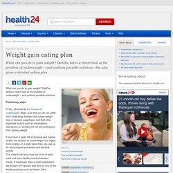 Weight gain eating plan