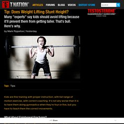 Tip: Does Weight Lifting Stunt Height?