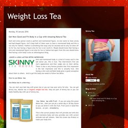 Weight Loss Tea: Get Now Good and Fit Body in a Cup with Amazing Natural Tea