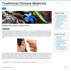 Ear Acupuncture Best for Weight Loss