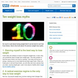 Ten weight loss myths