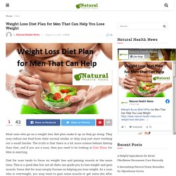 Weight Loss Diet Plan for Men That Can Help You Lose Weight