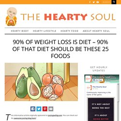 90% of Weight Loss Is Diet - 90% of That Diet Should Be These 25 Foods