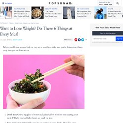 Weight-Loss Tips For Meals