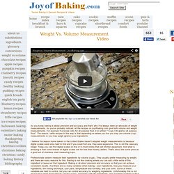Weight Vs.Volume Measurement - Joyofbaking.com *Demo Video*