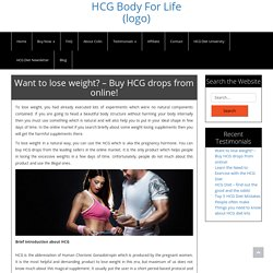 Want to lose weight? - Buy HCG drops from online! - hcgbodyforlife