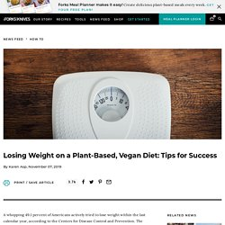 How To Lose Weight On a Plant-Based, Vegan Diet