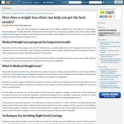 How does a weight loss clinic can help you get the best results? by Anteh Dispensary