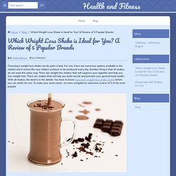 Best Weight Loss Shake