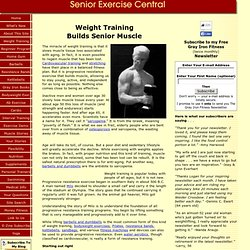 Weight Training Builds Senior Muscle