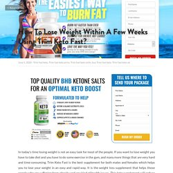 How To Lose Weight Within A Few Weeks Using Trim Keto Fast?