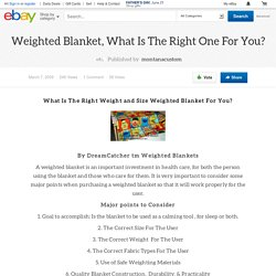 Weighted Blanket, What Is The Right One For You?