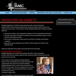 Weighted Blankets - The ISAAC Foundation