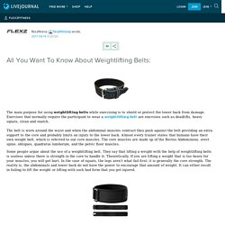 All You Want To Know About Weightlifting Belts