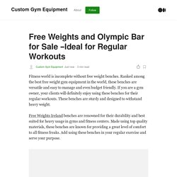 Free Weights and Olympic Bar for Sale