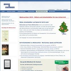 Weihnachtsrätsel für den Unterricht und für Deutsch als Fremdsprache