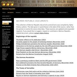 Weimar Republic documents