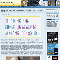 Michael Weinberg's 3 Steps for Licensing Your 3D Printed Stuff
