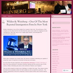 Wildes & Weinberg – One Of The Most Reputed Immigration Firm In New York