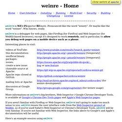 weinre - Home