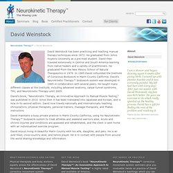 David Weinstock – Neurokinetic Therapy™