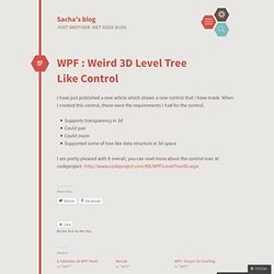 WPF : Weird 3D Level Tree Like Control