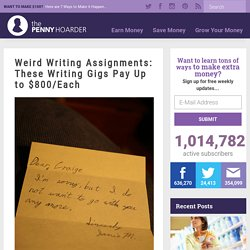 Weird Writing Jobs: Get Paid to Write About Strange Topics