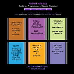 Wendy Rinaldi Books for Professionals in Special Education
