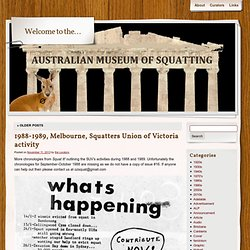 Australian museum of squatting