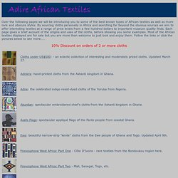 Adire African Textiles gallery