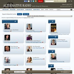 Alternative Radio — Welcome