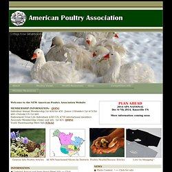 Welcome to the American Poultry Association