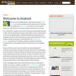 Welcome to Android - PCWorld