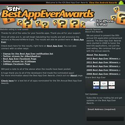 Informations / News - 2011 Best App Ever Awards :: Vote for Best Task Management App