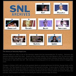 Welcome to The SNL Archives
