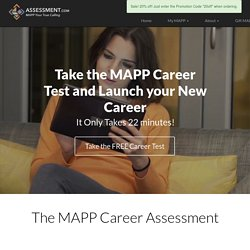 Free Career Test - Find a New Career with the MAPP Assessment Test | Assessment.com