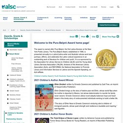 Welcome to the Pura Belpré Award home page!