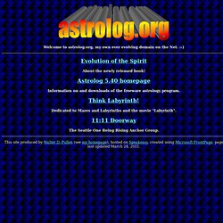 Welcome to astrolog.org