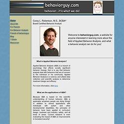 welcome to behaviorguy.com!