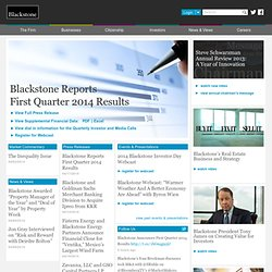 The Blackstone Group LP – Leading Investment and Advisory Firm